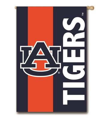 Auburn Striped House Flag