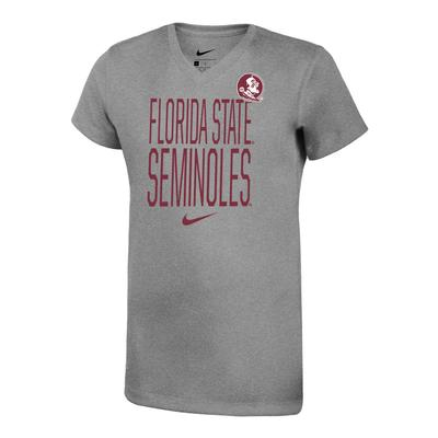 Florida State Nike Girls Dri-Fit Legend V Neck Short Sleeve Tee