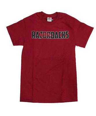 Arkansas Razorbacks Straight Logo Tee