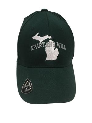 Michigan State Top Of The World Performance Flex Fit Cap