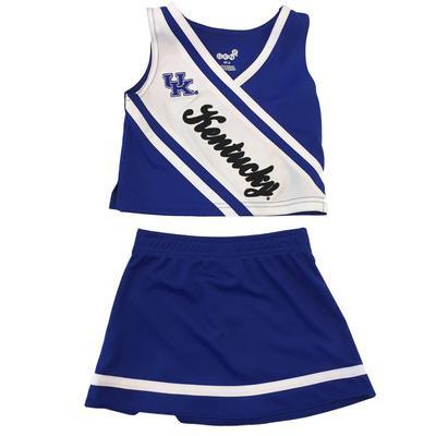 Kentucky Toddler 2 Piece Cheerleader Outfit