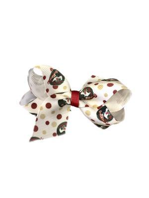 Florida State Polka Dot Mini Bow