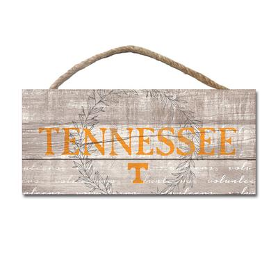 Tennessee Legacy Laurels Wooden Plank Hanging Sign