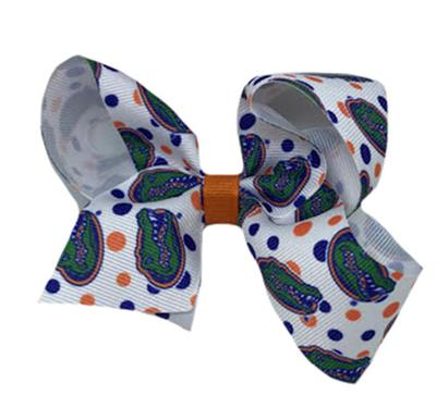 Florida Medium Polka Print Hair Bow