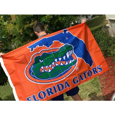 Florida State Outline Gator House Flag 3'x5'