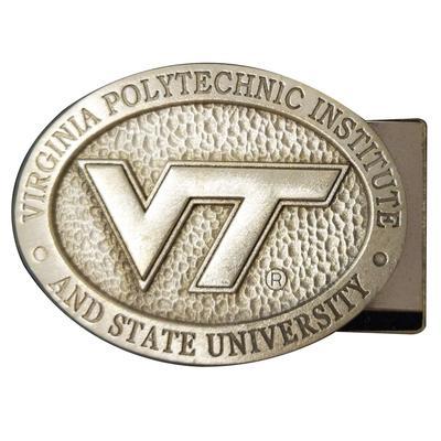Virginia Tech Pewter Money Clip