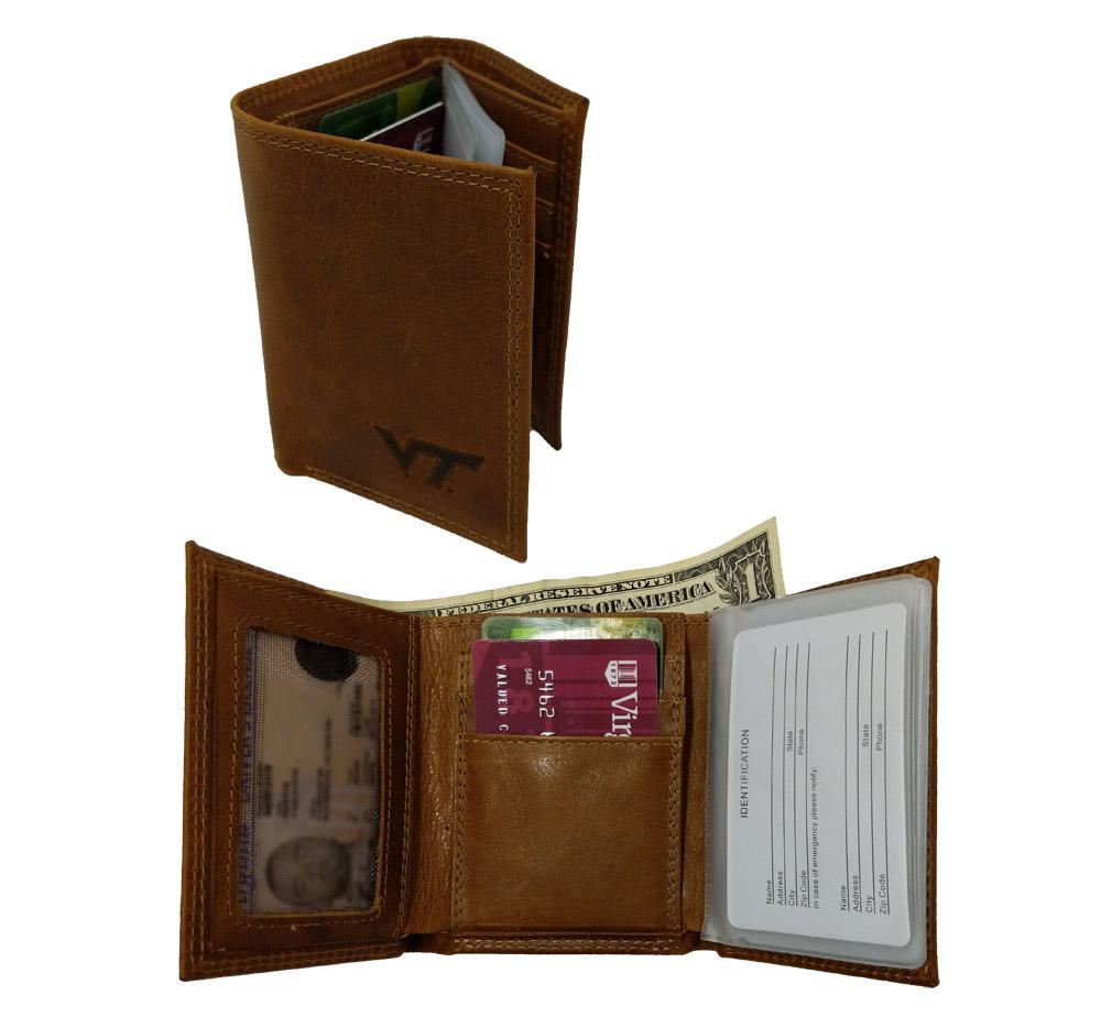 Virginia Tech Embossed Tri- Fold Wallet