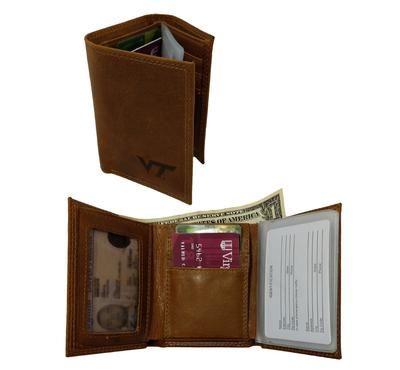 Virginia Tech Embossed Tri-Fold Wallet