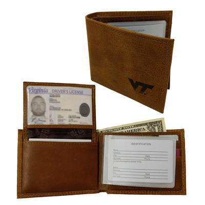 Virginia Tech Bi-Fold Embossed Wallet