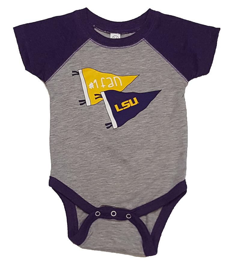 Lsu Infant # 1 Fan Romper