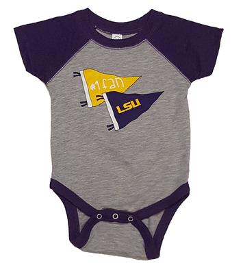 LSU Infant #1 Fan Romper