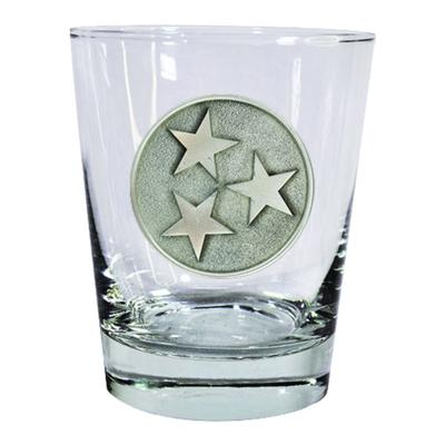 Tennessee Heritage Pewter Tristar Rocks Glass