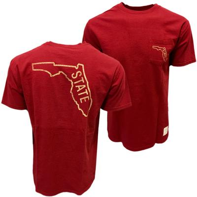 Florida State Retro Brand State Pocket T-Shirt