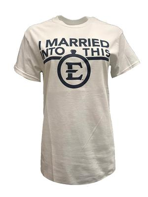 ETSU I Married Into This T-Shirt WHITE