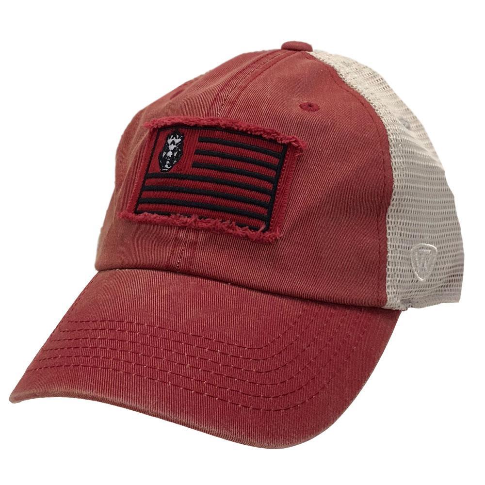 Arkansas Top Of The World Flag Trucker Adjustable Hat
