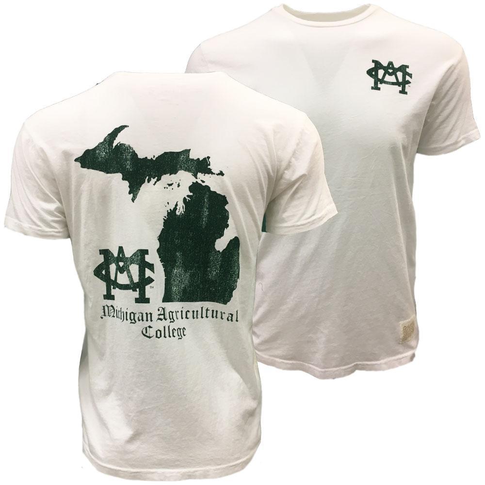 Michigan State Retro Brand Mac Short Sleeve Tee