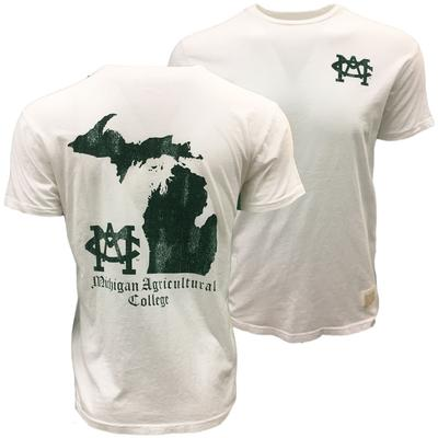 Michigan State Retro Brand MAC Short Sleeve Tee