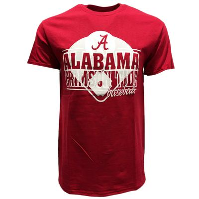 Alabama Baseball Double Stack Tee