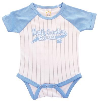 UNC Infant Baseball Stripe Romper