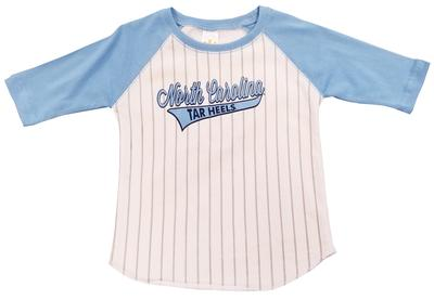 UNC Toddler 3/4 Sleeve Baseball Tee