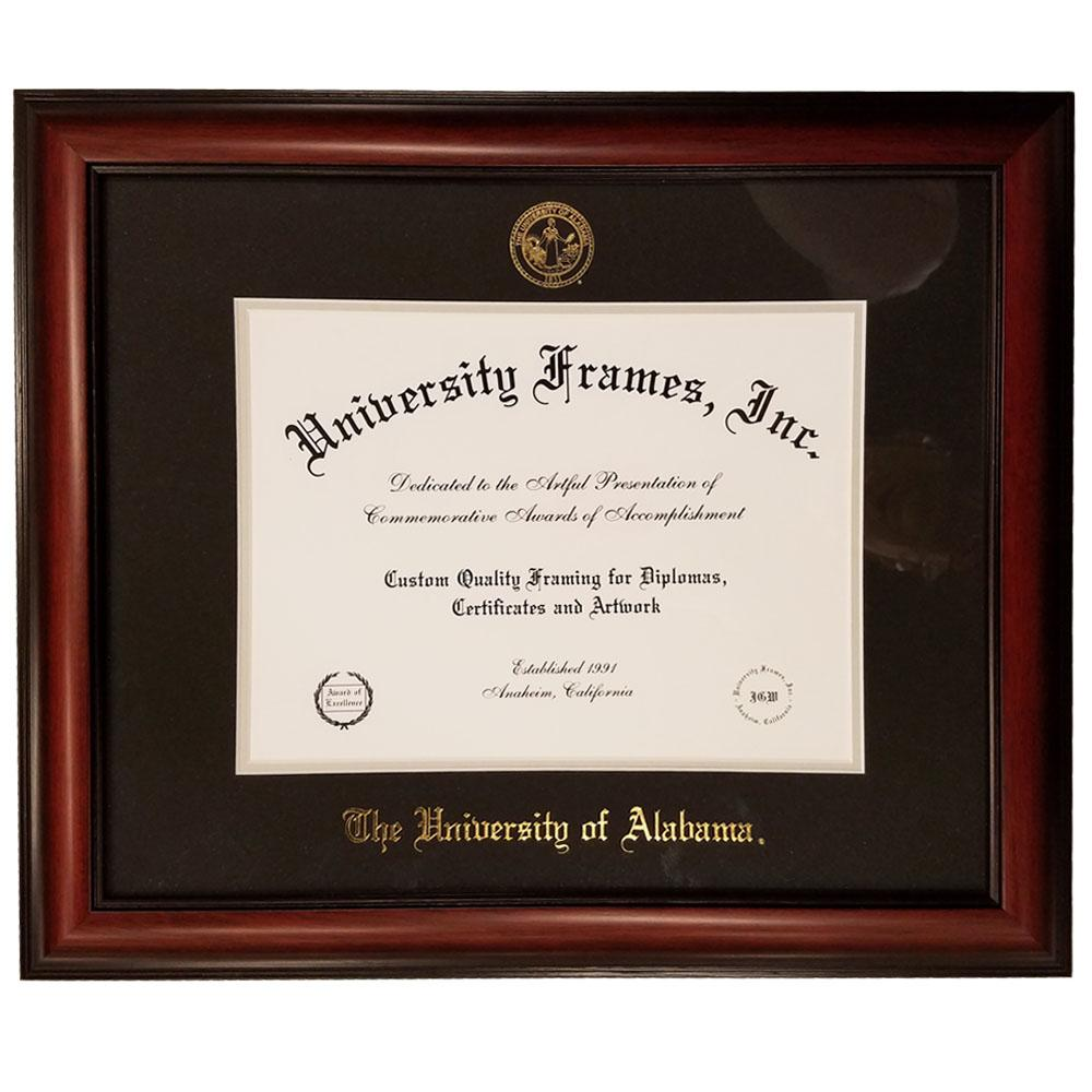 Alabama Mahogany Diploma Frame