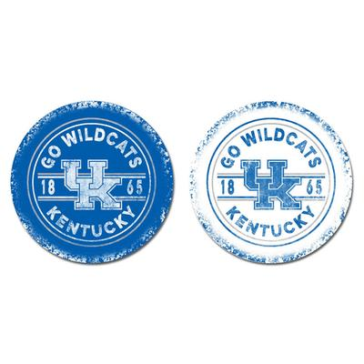 Kentucky Legacy Go Wildcats Car Coasters