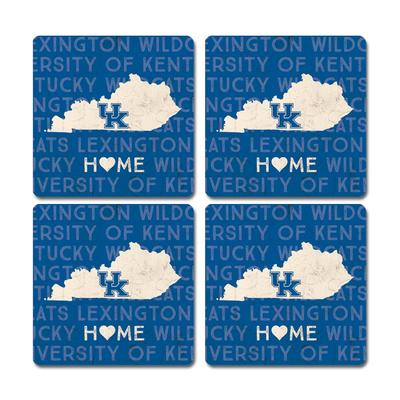 Kentucky Legacy Home Love Coaster Set - 4 Pack