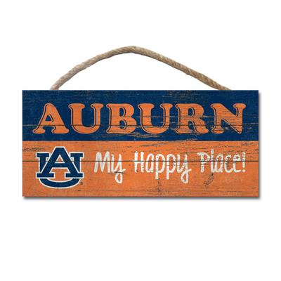 Auburn Legacy Wooden Happy Place Sign