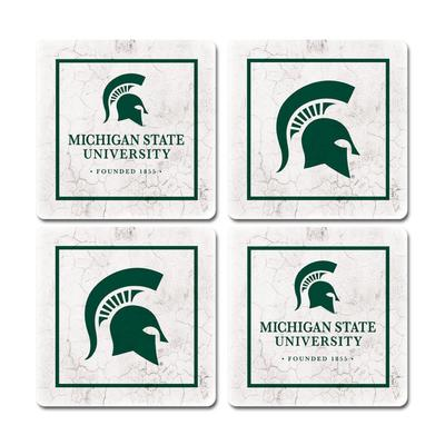 Michigan State Legacy Ivy Coaster Set