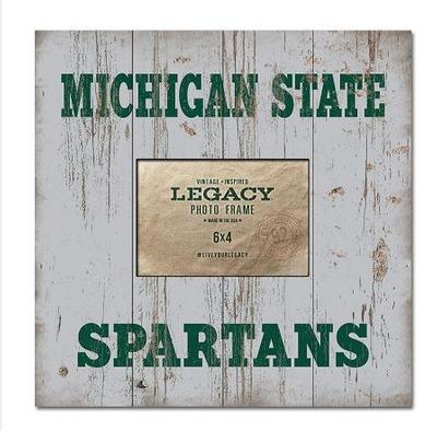 Michigan State Legacy Plank Photo Frame 13.5