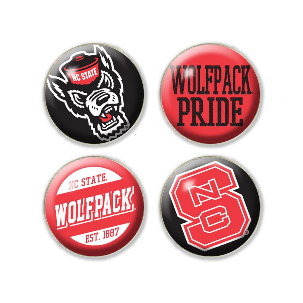 Nc State Legacy Domed Fridge Magnets - 4 Pack