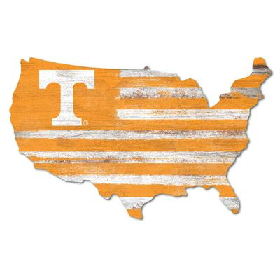 Tennessee Legacy USA Power T Wooden Wall Mount Sign
