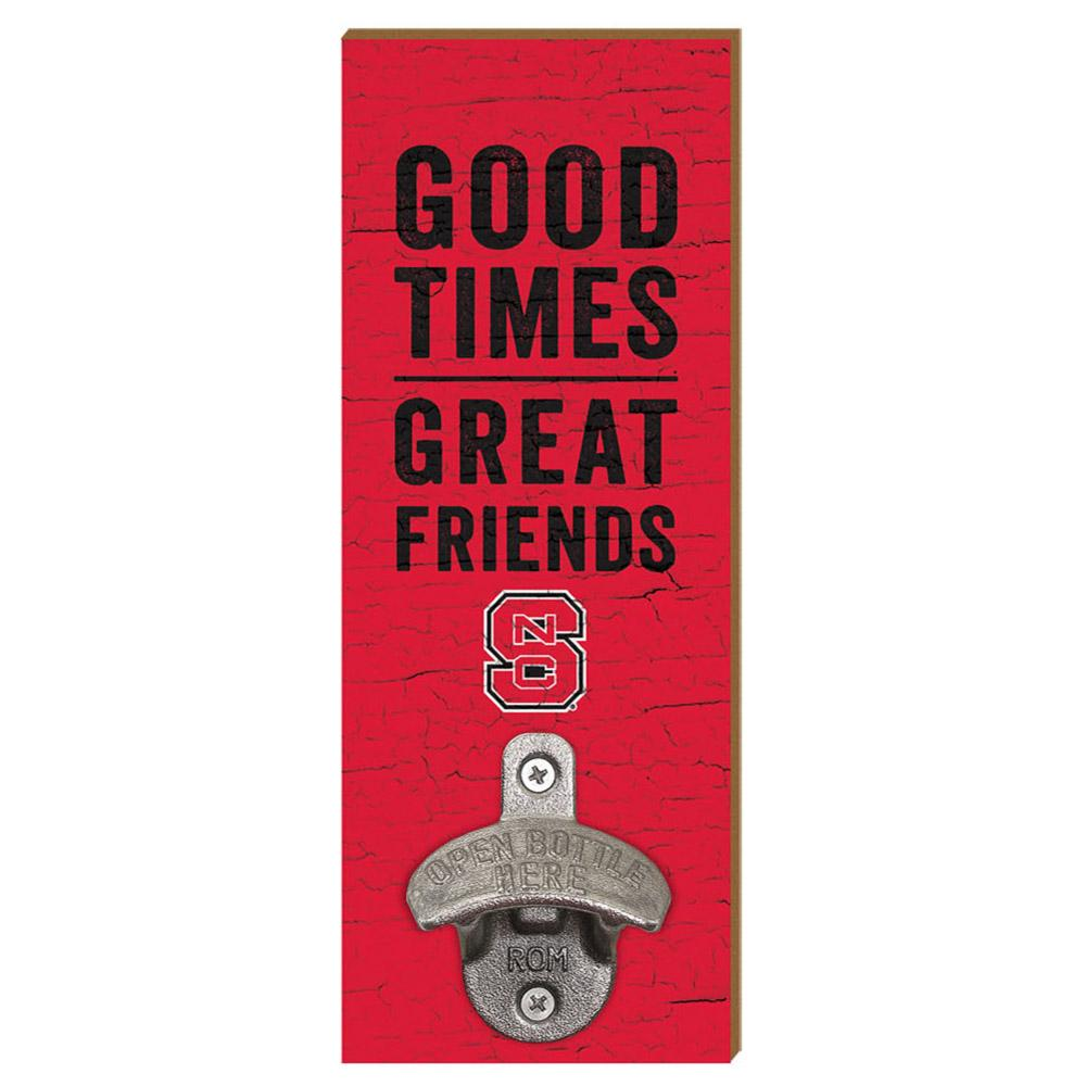 Nc State Legacy Good Times Wall Mount Bottle Opener