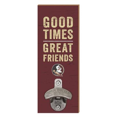 Florida State Legacy Good Times Wall Mount Bottle Opener