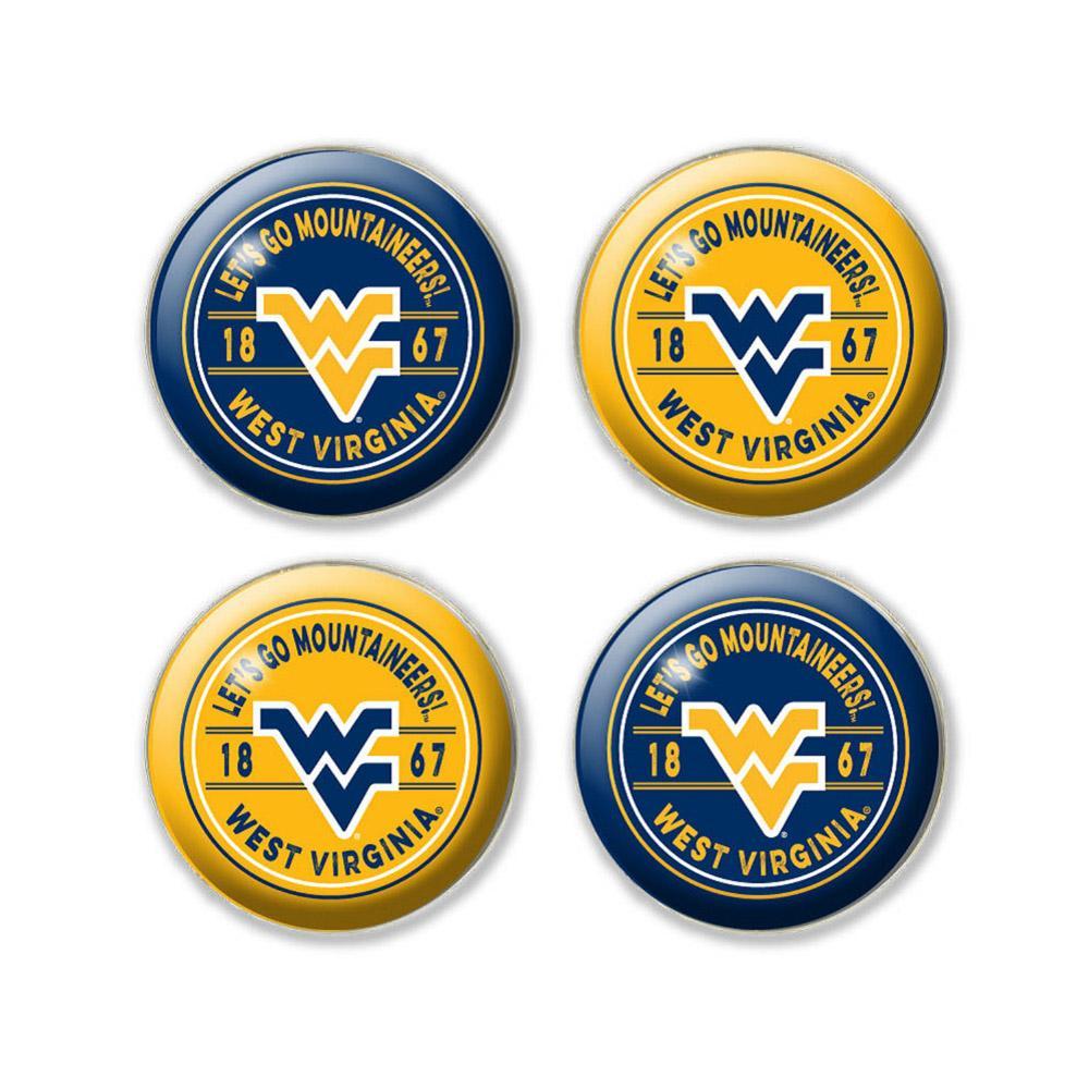 West Virginia Legacy Dome Fridge Magnet Pack - 4 Pack