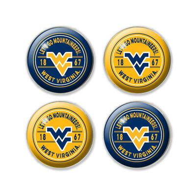 West Virginia Legacy Dome Fridge Magnet Pack - 4 Pack