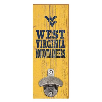 West Virginia Mountaineers Legacy Wall Mount Bottle Opener