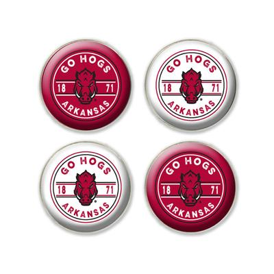 Arkansas Legacy Go Hogs Fridge Magnets - 4 Pack