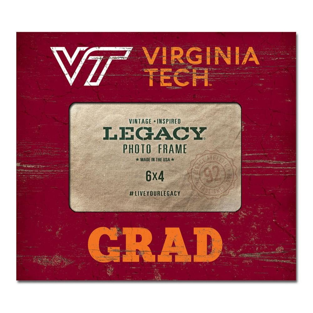 Virginia Tech Legacy Wooden Vt Grad Picture Frame