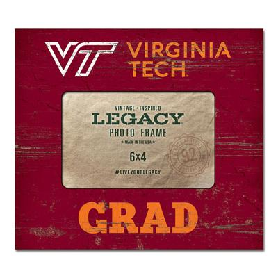 Virginia Tech Legacy Wooden VT Grad Picture Frame