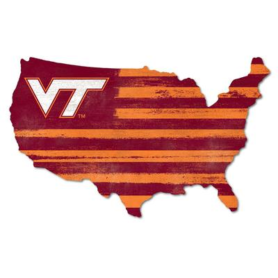 Virginia Tech Legacy USA VT Wooden Wall Mount Sign
