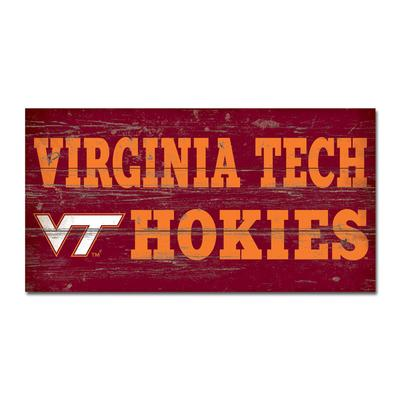 Virginia Tech Legacy VT Hokies Wooden Sign