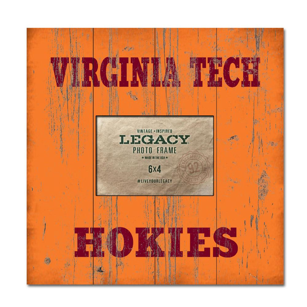 Virginia Tech Legacy Wooden Plank Picture Frame