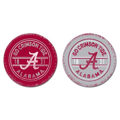 Alabama Legacy Go Crimson Tide Car Coasters