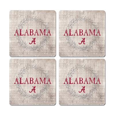 Alabama Legacy Laurels Coaster Set - 4 Pack