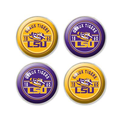 LSU Legacy Fridge Magnet Set - 4 Pack