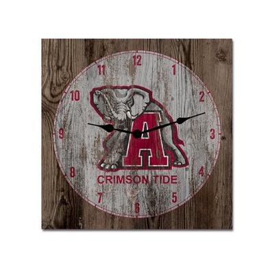 Alabama Legacy Elephant Wood Clock - 13