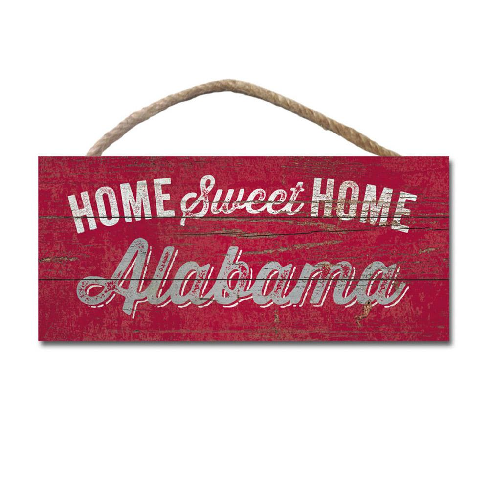 Alabama Legacy Home Sweet Home Wooden Hanging Sign