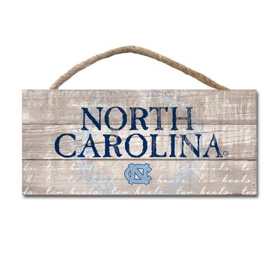 UNC Legacy Laurels Wooden Plank Hanging Sign