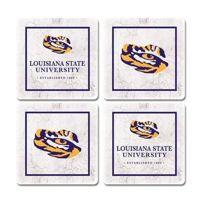 LSU Legacy Ivy League Coaster Set